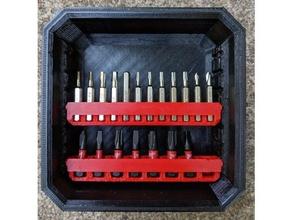 micro bit holder milwaukee packout bit cases tool holders & boxes bit holder bit organizer micro bit milwaukee milwaukee packout milwaukee tools packout tool holder tool organizer
