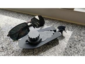 mini Aufzieh-Boot Prototyp schraubenlos mechanische Spielzeuge Boot windup