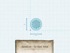 zombicide - hielo token juegos beowulf la peste negra verde de la horda de hielo explosión de hielo kickstarter token wulfsburg zombicide