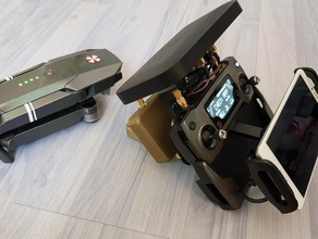 dji doble 4w extensor de rango todos los drones 24 g r c vehículos de la antena boost de refuerzo dji dji inspire dji inspire 1 dji mavic dji mavic pro dji phantom extendido extensor el fpv de la antena inspirar a 1 mavic mavic 2 mavic aire mavic pro de naranja el control remoto