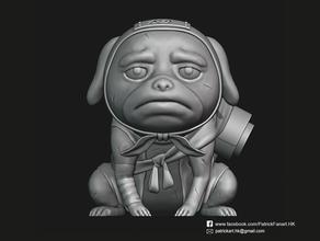 pakkun naruto sculture anime personaggio di anime cane fanart figura figurina manga naruto naruto shippuden pakkun scolpire la scultura statua