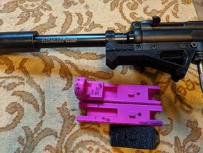 a5 angled foregrip 3d printing a-5 angled foregrip angled front grip angled grip tippmann tippmann a5