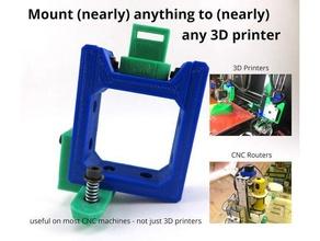 costmo soporte de montaje en cualquier cosa que tu impresora 3d el monte nema17 nema23 nema 17 openscad scad tinkercad universal montaje universal