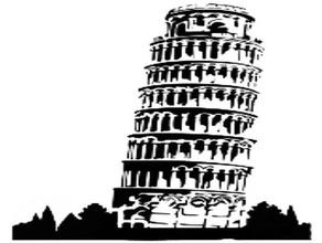 torre pendente di pisa stencil 2d art caffè stencil digitale italia torre pendente di pisa stencil
