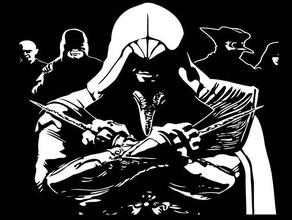 ac ezio stencil 3 2d art assassins creed assassins creed ii ezio ezio auditore ubisoft
