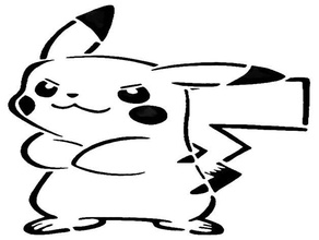 pikachu plantilla 3 Arte en 2d lindo eléctrico el ratón nintendo 3ds nintendo interruptor pikachu pokemon galería de símbolos super nintendo super smash bros