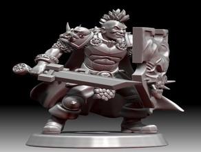 miki caos guerrero juegos y juguetes 28mm caos el caos de guerrero delarosaminiatures las miniaturas la resina de la impresora el escudo el cráneo wargames warhammer warhammer fantasy guerrero