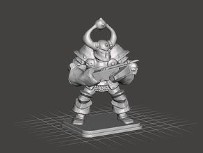heroquest - caos guerrero ballesta juegos y juguetes 28mm dungeons dragons gamesworkshop heroquest miniatura de 28mm tablero de la mesa warhammer