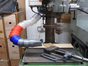nu-way cf25 drill press - rlab dust extraction system fitting machine tools drill drill press dust dust collector dust extractor nu-way rlab