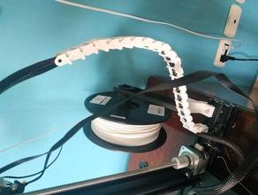 ender 3 cable de la cadena de final sin tornillos Impresora 3d accesorios cadena de cable clip de cable guía de cable soporte de cable gestión de cables creality ender 2 creality ender 3 emder3 ender3 ender 3