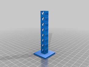 temp calibration tower 185 c 206 c 3 c increments pla 3d printing tests customized