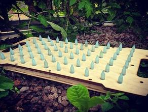 usine de dibbler rapide de semis le semis laser imprimé en 3d outils l'aquaponie dibbler ferme l'agriculture les aliments le jardinage en croissance la culture hydroponique la culture intérieure jardin d'intérieur le semis les graines sol le semis l'agriculture urbaine de légumes