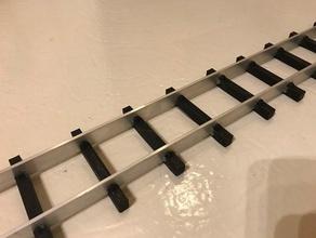 traversine in alluminio rotaie in legno edifici e strutture 32mm 45mm giardino della ferrovia giardino ferroviaria lgb aprire ferroviaria traccia con il treno