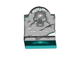 skull gravestone tealight candle holder decor candle candle holder tealight tealightholder tealight candle tealight holder
