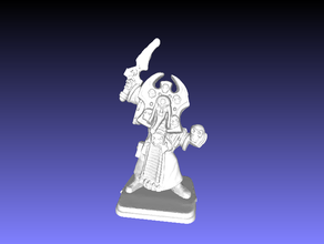 heroquest - wizards morcar - necromancer fanrax repaired one more time 3d printing 28mm heroquest miniature morcar wizard