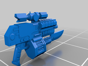 mark iis shadow pattern bolt rifle 3d printing bolter cosplay weapon imperial guard miniature space marine warhammer 40k wh40k