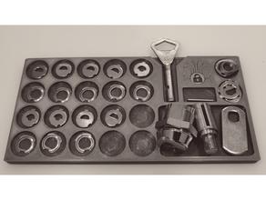 disk lock pinning tray sp abloy classic tool holders & boxes dissassemble dissassembly loacksmith lock lockpicking locksport padlock pinning pinning tray pins tray