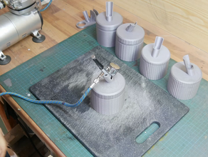 airbrush cleaning pot tool holders & boxes 3d printing airbrush airbrushstand airbrush cleaner airbrush stand