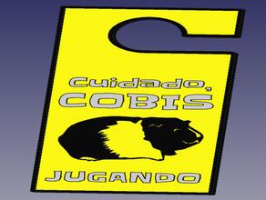 cartel cobayas - guinean pig sign pets cartel cartesio cobaya mascota mascotas