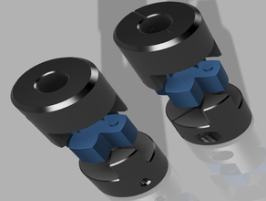 flexible spider plum coupler replacement 3d printer parts 5-8mm 5mm 8mm coupler plum coupler spider coupler stepper coupler z coupler