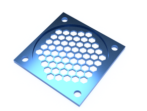 40mm fan cover 3d printing 3dprinter fan fancover fan shield protective fancover prusa fancover upgrade