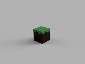 minecraft dirt block sculptures