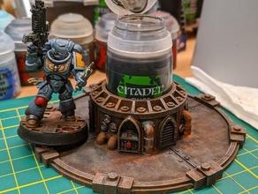themed citadel paint holder - 40k style games citadel citadel paint holder model paint holder paint paint holder scifi tools warhammer warhammer40k warhammer 40k