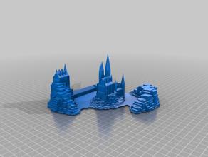 minecraft castle buildings & structures block castle detailed island minecraft