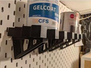 v3 - speed click citadel paint tool rack shelf bracket - skadis pegboard citadel citadel paint rack citadel paints crazypropdmc ikea ikea skadis paint rack pegboard skadis