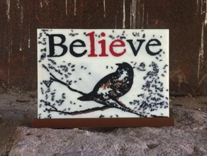 believe -silhouette asllexicon belief believe believe silhouette bird colorized colorized silhouette crow crow silhouette faith halloween halloween decoration halloween prop halloween scary hope meshmixer olsen prusa religion silhouette star labs 3d starlabs3d tinkercad todd todd olsen