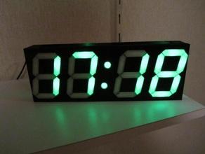 digital-uhr klein mit scoreboard luftfeuchte temperatur 3d printer 7 segment 7 segment uhr clock clock face digitaluhr digital clock led clock led uhr neopixel printable clock rgb uhr uhr wall clock wanduhr ws2811 ws2812 ws2812b