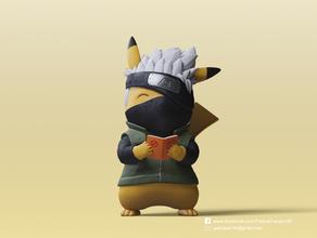 pikachu x kakashi pokemon, naruto anime personaggio di anime carino fanart figura figurina kakashi naruto naruto shippuden pikachu pokemon pokemon figure pokemon andare pokemon giocattolo la scultura statua