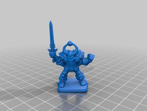 heroquest caos guerrero de la espada