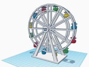 n scale pacific wheel amusement park ferris wheel j3ffr3y jeff model railroad n gauge n scale santa monica