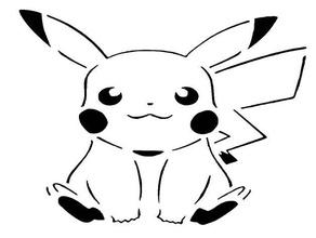pikachu plantilla 3 el anime el ratón pikachu pokemon galería de símbolos