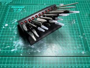la précision des fichiers et des pinces titulaire passe-temps aiguille de fichier fichier aiguille titulaire pas de vis porte-outil pince à épiler pince à épiler titulaire