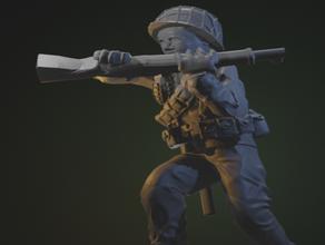 us infantry wwii 1 100 15mm m1 garand rifle butt-stroke 15mm 1100 army infantry soldier soldiers troops war ww2