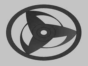 sharingan cerchio 3dprint anime impressionante auto naruto naruto shippuden rc auto sharingan utile la ruota