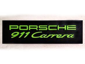porsche 911 carrera sign 3d text carrera decoration porsche porsche 911 porsche 911 carrera sign wallmount