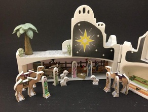 natividad playset bebé belén cristiana de navidad de regalo jesús lds mormón la natividad playset presente de juguete
