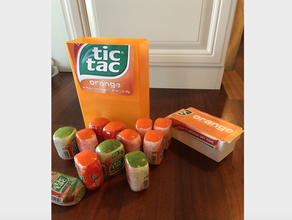 giant tic tac container - holds 12 large tic tac bottles candy candy holders container holder mint mints orange storage tac tic tic tac tic tac box