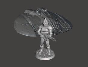 28mm space raider-Hauptmann-Miniatur 25mm 28 30mm 32mm battlestar battlestar galactica centurion Charakter cylon Abbildung gaming Ritter laser mini der Miniatur miniaturen Miniatur-28mm Gewehr Raum wargaming