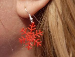 earrings snowflake boucles d'oreille flocon neige pendientes copo nieve boucles doreilles copo nieve earrings flocon neige pendientes snowflake