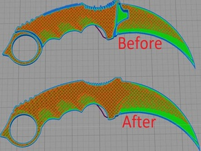 karambit stl fija fácil de impresión de la versión baonette contador counter-strike karambit el cuchillo