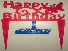 happy birthday topping birthday birthday decoration birthday gift dessert topping happy happy birthday