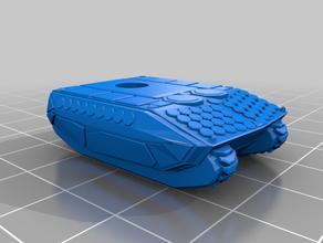 fütüristik tank afv artı drone tank mini drone w gelecek araç standı tank