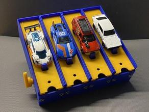 1 64 diecast automóvil n-carriles de la caja de arranque fundido a presión diecast automóvil hot wheels hotwheel hotwheels caja de cerillas caja de arranque de la pista