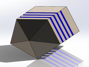 d5 crystal pentagonal dice cristal dice pentagonal