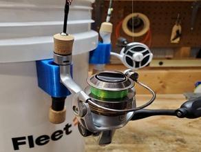 bucket ice fishing rod holder 5 gallon bucket 6 gallon bucket fishing fishing rod ice fishing ice fishing rod ice rod ice rod holder rod holder