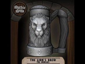 mythic mugs - lion's brew - can holder storage container 12oz 16oz 250ml 25cl 300ml 330ml 33cl 355ml 375ml 440ml 473ml 500ml 50cl arsmoriendi3d ars moriendi 3d beer beerholder beer can holder beer koozie beer stein beverage can holder boardgame boardgames boardgame accessories boardgame inserts boardgame organizer can holder container cup cupholder cup holder dice dice box dice holder dice tower dnd dnd prop dungeons dragons energy drink fantasy holder iron kickstarter koozie lion lions brew maya metal miniature monster mug mythic mugs pencil cup redbull koozie red bull red bull can relief screw cap sculpture soda soda can holder soda holder soda koozie steel stein storage container tallboy thread threaded cap threads warhammer fantasy zbrush